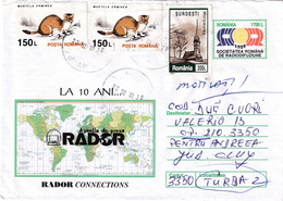 """A9748-ROMANIAN PRESS AGENCY """" RADOR CONNECTIONS"""", USED STAMPS ON COVER 2001 ROMANIA COVER STATIONERY - Postal Stationery"""