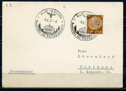 "German Empires,DR 1937 Drucksachen Postkarte Mit Mi.Nr.513 Stempelbeleg M. SST ""Aue-Gautreffen Der NSDAP Am  ""1 Beleg - Covers & Documents"