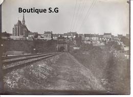 Photo Lieux Conches Voie Ferre Train Batiment Edifice Histoire Patrimoine 18x13cm - Lugares