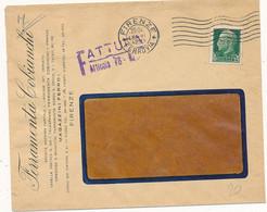 1942 PERFIN FERRAMENTA COBIANCHI FIRENZE + BUSTA PUBBLICITARIA - Storia Postale