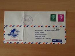 Eerste Vlucht Lijndienst Amsterdam-Sydney 7 December 1951. - Airmail