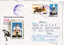 A9749- METROPOLITAN CATHEDRAL CLUJ NAPOCA 1999, USED STAMP ON COVER, BISTRITA 1999 ROMANIA COVER STATIONERY - Postal Stationery