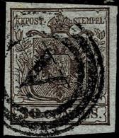 """(1850) Lomb. Ven. 30 C. , Stummer Stp. """" V """"  , A5046 - Used Stamps"""