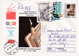 A9758- INTERNATIONAL TRADE GAUDEAMUS ROMEXPO 1999, ZALAU 2000 USED STAMPS ON COVER ROMANIA COVER STATIONERY - Postal Stationery