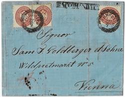 Lomb. Ven. Nr. 21, 3 Werte, Selt. Reko-Brief  , A5048 - Used Stamps