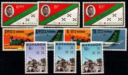Katanga Nº 66/8, 76/81 Nº 24,50. - Katanga