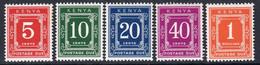 Kenya 1973 Postage Dues Set Of 5, MNH, SG D23/8 (BA2a) - Kenia (1963-...)