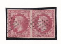 France - Emissions Générales Des Colonies - N° 10 En Paire Obl. Losange Muet 8*8 - Cote ~260€ - 1852 Louis-Napoleon
