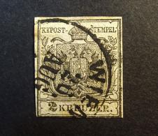 Österreich - Autriche - 1850 - Wappen 1850 Michel-Nr. 2 A - Gestempelt Mit Anomalie ; Figure 2 Touches Upper Line - Wien - Used Stamps