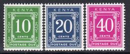 Kenya 1983 Postage Dues Set Of 3, MNH, SG D41/3 (BA2a) - Kenia (1963-...)