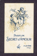 """Carte Parfum AUZIERE - """" SECRET D'AMOUR"""" - 1922 - Vintage (until 1960)"""