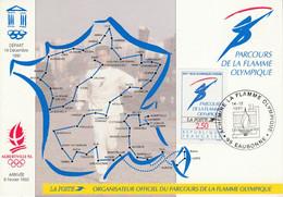 PARCOURS DE LA FLAMME OLYMPIQUE - EAUBONNE VAL D'OISE 1991 - Bolli Commemorativi