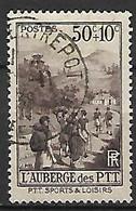 FRANCE    -    1937 .  Y&T N° 347 Oblitéré.   L'auberge Des Loisirs. - Usati