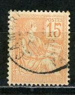 FRANCE - MOUCHON 15c - N° Yvert 117 Obl. - 1900-02 Mouchon