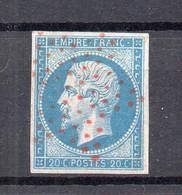 !!! N°14 OBLITERE ETOILE ROUGE - 1849-1876: Periodo Classico