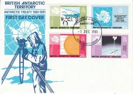 British Antarctic Territory (BAT) 1981 Antarctic Treaty 4v  FDC (52782) - FDC