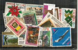 Honduras,Ecuador,Colombia,Mexico,etc  Differents, Bonne Qualité.Lot De Timbres Oblitérés (40) Lot # 1 - Alla Rinfusa (max 999 Francobolli)