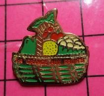615d Pin's Pins / Beau Et Rare / THEME : MARQUES / PANIER DE FRUITS ET LEGUMES LA GRANGE AUX FRUITS - Marche