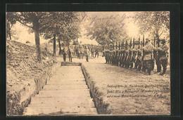 AK Feldzug 1914-16 Frankreich, Beerdigung Deutsch. Gefall. Offiz. U. Mannschaft. Im Helden-Sammelgrab - Guerre 1914-18