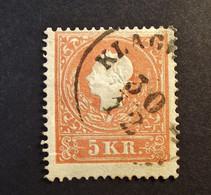 Österreich - Autriche - 1859 - Franz- Joseph Type II - Nr. 14 - 5 K. Vermillion - Gestempelt - Frisse Zegel. - Used Stamps