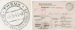 """COÏNCIDENCE """" SEJOUR IDEAL POUR FAMILLES THEUX"""" BELGIQUE 1941 OFLAG VIII C CAMP PRISONNIERS OFFICIERS JULIUSBERG BRESLAU - Covers"""