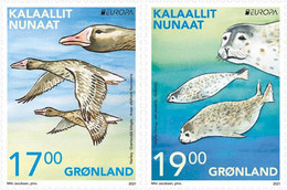 Greenland.2021.Europa CEPT.Endangered National Wildlife.2 V. **  (stamps From The Booklet Are Self-adhesive) - 2020