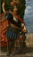 RÉPLICA Lámina Rey Godo Hispania, Ataúlfo. Vicente Carducho. Siglo XVII. - Zonder Classificatie