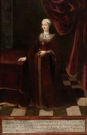 RÉPLICA Lámina Reina Isabel I De Castilla, La Católica. Anómino. Siglo XVII - Zonder Classificatie