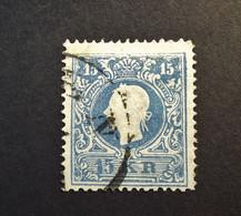 Österreich - Autriche - 1859 - Franz- Joseph Type II - Nr. 16 - 15 K. Blue - Gestempelt - Mooie Zegel. - Used Stamps