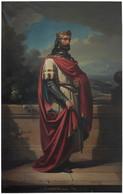 RÉPLICA Lámina Rey De Asturias, Aurelio. Eduardo Cano De La Peña. Siglo XIX. - Zonder Classificatie