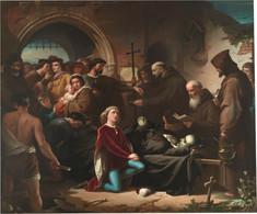 RÉPLICA Lámina D. Álvaro De Luna Muerto En Valladolid. Eduardo Cano De La Peña. Siglo XIX. - Zonder Classificatie