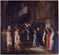 RÉPLICA Lámina Reina Isabel I De Castilla, La Católica, En Cartuja De Miraflores, Burgos. Luis Paret Y Alcázar. - Zonder Classificatie