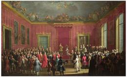 RÉPLICA Lámina Abdicación Rey Carlos III Al Reino De Nápoles. Antonio Joli. Siglo XVIII. - Zonder Classificatie