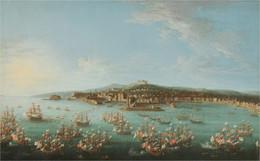 RÉPLICA Lámina Partida Rey Carlos III Puerto De Nápoles A España. Antonio Joli. Siglo XVIII. - Zonder Classificatie