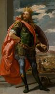 RÉPLICA Lámina Rey Godo De Hispania, Alarico. Jusepe Leonardo. Siglo XVII. - Zonder Classificatie