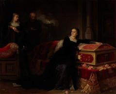 RÉPLICA Lámina Reina Juana I De Castilla En Tordesillas. Gabriel Maureta Y Aracil. Siglo XIX - Zonder Classificatie