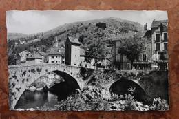 """PONT DE MONTVERT (48) - LE GRAND PONT - L'HORLOGE ET """"LOU RON DE MOUNTAL"""" - Le Pont De Montvert"""