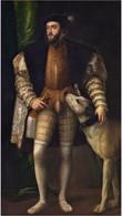 RÉPLICA Lámina Emperador Carlos V. Tiziano. Siglo XVI. Réplica Actual Del Original De época. - Zonder Classificatie