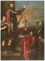 RÉPLICA Lámina Alocución Marqués Del Vasto A Tercios Españoles En Lombardía, Italia. Tiziano. Siglo XVI. - Zonder Classificatie