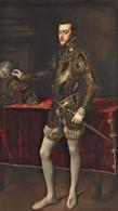 RÉPLICA Lámina Príncipe De Asturias, Felipe II En Milán. Tiziano. Siglo XVI. - Zonder Classificatie