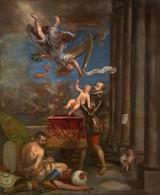 RÉPLICA Lámina Rey Felipe II Ofreciendo Al Cielo Al Infante Don Fernando. Tiziano. Siglo XVI. - Zonder Classificatie