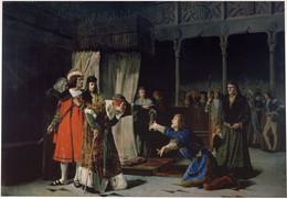 RÉPLICA Lámina Prisión Príncipe De Viana, Juan II De Aragón, Cortes De Lérida Lleida. Emilio Sala Francés. Siglo XIX. - Zonder Classificatie