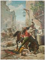 RÉPLICA Lámina Manuela Malasaña Contra Ejército Francés, 2 De Mayo 1808, Madrid. Eugenio Álvarez Dumont. Siglo XIX - Zonder Classificatie