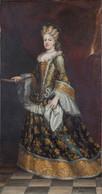 RÉPLICA Lámina Reina De España, María Luisa Gabriela De Saboya, Mujer De Felipe V. Juan García De Miranda. Siglo XVIII. - Zonder Classificatie