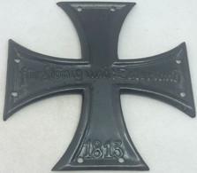 RÉPLICA Placa Cruz De Hierro. Ejércio Prusia. Alemania. Guerras Napoleónicas. 1813. - Avant 1871
