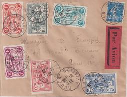 """FRANCE : PA . """" MEETING DE ROUEN """" . AVEC LES 6 VIGNETTES . 1923 . - Correo Aéreo"""