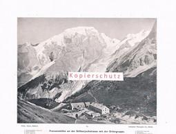073-5 Photoglob Franzenshöhe Stilfserjoch Passo Stelvio Druck 1902!! - Altri