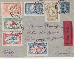 """FRANCE : PA . """" MEETING DE MONTPELLIER """" . AVEC LES 6 VIGNETTES . 1923 . - Correo Aéreo"""