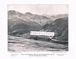 074-5 Photoglob Stilfserjoch Passo Stelvio Ortler Oertles Druck 1902!! - Altri