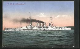 AK Kriegsschiff SMS Helgoland Auf Hoher See - Warships